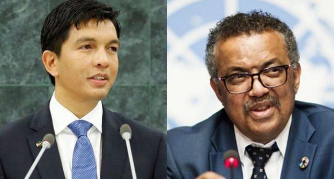 COVID Organics: Madagascar President, WHO DG Hold Virtual Meeting