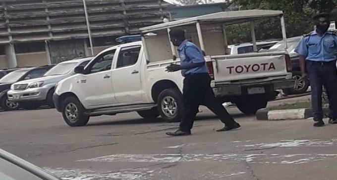 BREAKING: Tight Security At UNILAG As Senate Meets