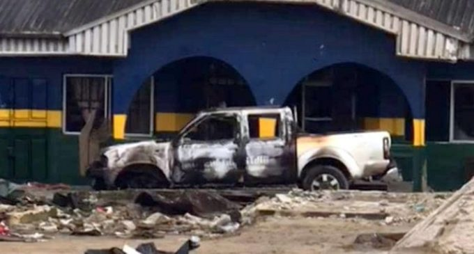 Many Killed As Hoodlums Burn Down SSS, Police Headquarters In Nnewi