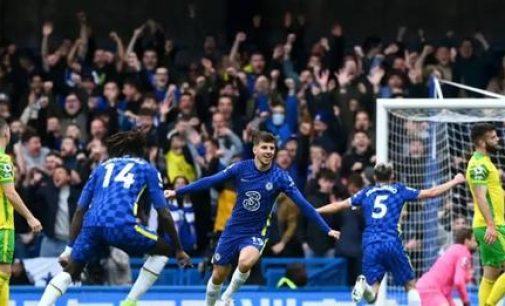 EPL: Mount Hits Hat-Trick As Chelsea Hammer Norwich